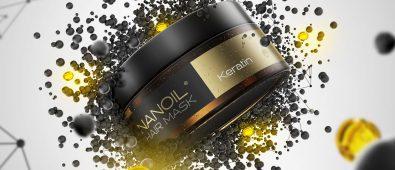 wzmacniająca maska na włosy nanoil keratin
